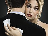 Woman hugging man and crying --- Image by   Bernd Vogel/Corbis Beauty, Couples, Dating, Greed, Jealousy, Suits, Women
