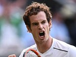Britain's Andy Murray celebrates breaking serve in teh fourth set against Italy's Andreas Seppi during his men's singles third round match on day six of the 2015 Wimbledon Championships at The All England Tennis Club in Wimbledon, southwest London, on July 4, 2015.   RESTRICTED TO EDITORIAL USE  --    AFP PHOTO / LEON NEALLEON NEAL/AFP/Getty Images