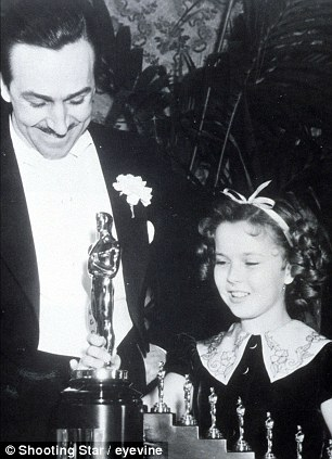 Walt Disney and Shirley Temple at the Oscars in 1938