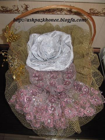 مدل لوازم عروس تزئین شده با گل مصنوعی