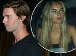 July 2, 2015: Patrick Schwarzenegger leaves the Nice Guy club with a  mystery woman and some friends.  Schwarzenegger seemed to get camera shy once he was in the car with his friends and the mystery blonde, Los Angeles, CA.\nMandatory Credit: INFphoto.com Ref.: infusla-309