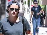Picture Shows: Kristen Stewart  July 02, 2015    'Twilight' actress Kristen Stewart stops by a nail salon and spa in Beverly Hills. It is being reported that Kristen is angry over her mother's recent interview with The Mirror.    Exclusive - All Round  UK RIGHTS ONLY    Pictures by : FameFlynet UK © 2015  Tel : +44 (0)20 3551 5049  Email : info@fameflynet.uk.com