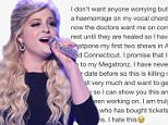 meghan_trainor?????? I'm so sorry Megatronz please forgive me. I will never speak and completely heal as soon as possible so I can show you how hard we¿ve been working on this #MTRAINTOUR