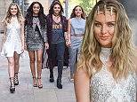 6 Jul 2015 - MANCHESTER - UK  LITTLE MIX ARRIVE AT BBC BREAKFAST IN MANCHESTER!  BYLINE MUST READ : XPOSUREPHOTOS.COM  ***UK CLIENTS - PICTURES CONTAINING CHILDREN PLEASE PIXELATE FACE PRIOR TO PUBLICATION ***  **UK CLIENTS MUST CALL PRIOR TO TV OR ONLINE USAGE PLEASE TELEPHONE   44 208 344 2007 **