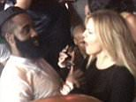EXCLUSIVE: 1st appearance of Khloe Kardashian and rumored bf James Harden holding each other and dancing together at Chris Brown's party in Las Vegas. The pair looked very happy as Khloe raised her arms in the air and swayed them around as her and James shared a fun moment together at their vip table. James was spotted holding a cup and also a bottle in each of his hands as they partied the night away with their friends as fans saw them together for the first time clubbing. Khloe's arm could be seen tucked in with James arm as they held each other before continiung to dance into the late hours in Vegas. James is in town for NBA Summer league basketball.  Pictured: Khloe Kardashian, James Harden Ref: SPL1068622  050715   EXCLUSIVE Picture by: Splash News  Splash News and Pictures Los Angeles: 310-821-2666 New York: 212-619-2666 London: 870-934-2666 photodesk@splashnews.com