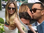 Picture Shows: Chrissy Teigen, John Legend  July 06, 2015    John Legend and his model wife, Chrissy Teigen are seen arriving at Wimbledon to enjoy a day of tennis in London, UK.    Non-Exclusive  WORLDWIDE RIGHTS    Pictures by : FameFlynet UK © 2015  Tel : +44 (0)20 3551 5049  Email : info@fameflynet.uk.com