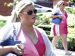 LONDON, ENGLAND - JULY 06:  Gemma Collins is seen taking a stroll in the sun on July 6, 2015 in Essex, England.  (Photo by Ada/GC Images)