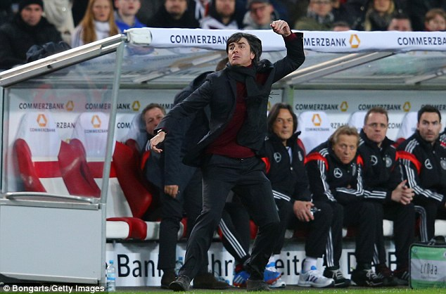 Just a friendly? Germany manager Joachim Low shows his frustration at his players