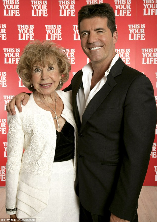 Sad news: Simon's mother Julie (pictured here in 2007) passed away on Sunday at the age of 89