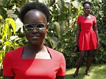 Mexican-born Oscar-award winning Kenyan actress Lupita Nyong'o  poses prior to attend Christian Dior 2015-2016 fall/winter Haute Couture collection fashion show on July 6, 2015 in Paris.            AFP PHOTO / PATRICK KOVARIKPATRICK KOVARIK/AFP/Getty Images