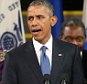 """CHARLESTON, SC - JUNE 26:  President Barack Obama sings """"Amazing Grace"""" as he delivers the eulogy for South Carolina state senator and Rev. Clementa Pinckney during Pinckney's funeral service June 26, 2015 in Charleston, South Carolina. Suspected shooter Dylann Roof, 21, is accused of killing nine people on June 17th during a prayer meeting in the church, which is one of the nation's oldest black churches in Charleston.  (Photo by Joe Raedle/Getty Images)"""