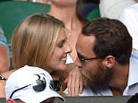 LONDON, ENGLAND - JULY 06:  Donna Air and James Middleton attend day seven of the Wimbledon Tennis Championships at Wimbledon on July 6, 2015 in London, England.  (Photo by Karwai Tang/WireImage)