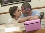 EXCLUSIVE: **NO USA TV AND NO USA WEB** MINIMUM FEE APPLY** Ariana Grande and her new backup dancer boyfriend Ricky Alvarez seen in a Wolfee Donuts store which got dangerously close to some powdered donuts . Ricky and Ariana, engage in some serious mouth-to-mouth PDA in this security cam video obtained by TMZ.com ,which wouldn't have come to light if not for the donut sniffing or near licking, incident. Sources inside Wolfee Donuts in Lake Elsinore, CA tell TMZ the couple came in on Saturday, and decided to play truth or dare with the goods -- daring each other to lick powdered jelly donuts on the counter. Time to lick the Donuts!  Pictured: Ariana Grande, Ricky Alvarez Ref: SPL1072899  070715   EXCLUSIVE Picture by: TMZ.com / Splash News  Splash News and Pictures Los Angeles: 310-821-2666 New York: 212-619-2666 London: 870-934-2666 photodesk@splashnews.com