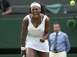 Wimbledon 2015 tennis championships, Wimbledon, London Picture MURRAY SANDERS DAILY MAIL/Solo Syndication Day 8 Serena Williams v Victoria Azarenka Serena Williams