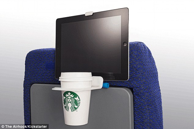 Put your drink in the cup holder and attach your smartphone or tablet to the adjustable viewing mount