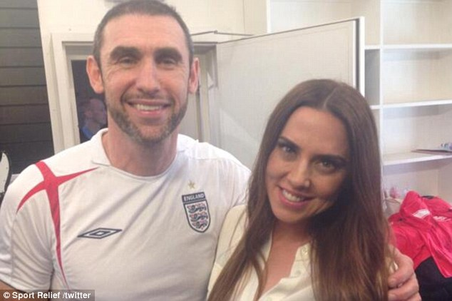 Three lions: Martin Keown (left) and former Spice Girl Melanie Chisholm were singing for Sport Relief