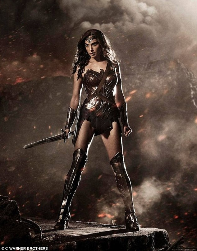 Heroine: Gal plays Wonder Woman in 2016's Batman v Superman: Dawn of Justice alongside Ben Affleck and Henry Cavill. Her superhero character will then take centre stage in upcoming action flick Wonder Woman due for release in June 2017