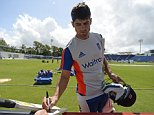Cricket - England Nets - SWALEC Stadium, Cardiff, Wales - 7/7/15  England's Alastair Cook signs autographs for fans after a training session  Action Images via Reuters / Philip Brown  Livepic