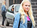 Coronation Streets bad girls Bethany Platt (played by Lucy Fallon) and Gemma Winter (played by Dolly-Rose Campbell)  film in a car behind some changing rooms at a local park....... 6.7.15.