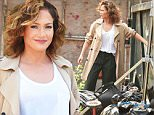 Jennifer Lopez with what appears to be a bad bruise or burn on her arm films a scene with Drea De Matteo for Shades of Blue in NYC.\n\nPictured: Jennifer Lopez\nRef: SPL1072549  070715  \nPicture by: Ron Asadorian / Splash News\n\nSplash News and Pictures\nLos Angeles: 310-821-2666\nNew York: 212-619-2666\nLondon: 870-934-2666\nphotodesk@splashnews.com\n