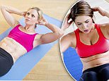 Woman exercising on mat --- Image by © Tetra Images/Corbis