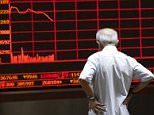 An investor watches an electronic board showing stock information at a brokerage office in Beijing, China, July 7, 2015. Chinese stocks fell on Tuesday, taking little comfort from a slew of support measures unleashed by Beijing in recent days, and unnerved by Chinese Premier Li Keqiang's failure to mention the market chaos in a statement on the economy. REUTERS/Kim Kyung-Hoon       TPX IMAGES OF THE DAY