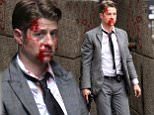 07.JULY.2015 - NEW YORK CITY - USA\nBEN MCKENZIE IS A BLOODY MESS WHILE SHOOTING THE SECOND SEASON OF THE HIT SHOW 'GOTHAM' IN AN ALLEYWAY UNDER THE MANHATTAN BRUDGE IN DUMBO BROOKLYN. ALSO PICTURED ON SET WAS ACTRESS ERIN RICHARDS,\nBYLINE MUST READ : XPOSUREPHOTOS.COM\n*AVAILABLE FOR UK SALE ONLY*\n***UK CLIENTS - PICTURES CONTAINING CHILDREN PLEASE PIXELATE FACE PRIOR TO PUBLICATION ***\n*UK CLIENTS MUST CALL PRIOR TO TV OR ONLINE USAGE PLEASE TELEPHONE 0208 344 2007*