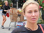 Alex Gerrard hits her local Pavillions supermarket in Beverly Hills, CA. The model and wife of LA Galaxy midfielder Steven Gerrard stocked up on bottled water, cookies, Funyan Rings, milk, diet Coke among other items.\n\nPictured: Alex Gerrard\nRef: SPL1073139  070715  \nPicture by: ?/Splash News\n\nSplash News and Pictures\nLos Angeles: 310-821-2666\nNew York: 212-619-2666\nLondon: 870-934-2666\nphotodesk@splashnews.com\n