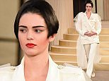 Mandatory Credit: Photo by David Fisher/REX Shutterstock (4897566ao)  Kendall Jenner on the catwalk  Chanel show, Autumn Winter 2015, Haute Couture, Paris Fashion Week, France - 07 Jul 2015