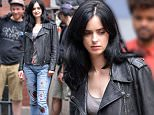 Mandatory Credit: Photo by ACE Pictures/REX Shutterstock (4898023f)\n Krysten Ritter\n 'AKA Jessica Jones' TV series on set filming, New York, America - 07 Jul 2015\n \n