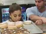 ***MINIMUM FEE TO BE AGREED BEFORE USE*** EXCLUSIVE: **NO USA TV AND NO USA WEB** MINIMUM FEE APPLY** Ariana Grande and her new backup dancer boyfriend Ricky Alvarez seen in a Wolfee Donuts store which got dangerously close to some powdered donuts . Ricky and Ariana, engage in some serious mouth-to-mouth PDA in this security cam video obtained by TMZ.com ,which wouldn't have come to light if not for the donut sniffing or near licking, incident. Sources inside Wolfee Donuts in Lake Elsinore, CA tell TMZ the couple came in on Saturday, and decided to play truth or dare with the goods -- daring each other to lick powdered jelly donuts on the counter. Time to lick the Donuts!  Pictured: Ariana Grande, Ricky Alvarez Ref: SPL1072899  070715   EXCLUSIVE Picture by: TMZ.com / Splash News  Splash News and Pictures Los Angeles:310-821-2666 New York:212-619-2666 London:870-934-2666 photodesk@splashnews.com