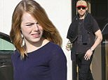 Los Angeles, CA - Former co-stars Ryan Gosling and Emma Stone bump into each other at Riverfront Stages. The pair will officially star in Damien Chazelleís musical La La Land, per a press release from Lionsgate and Summit Entertainment. They previously appeared opposite each other in Crazy, Stupid, Love and Gangster Squad. Originally, Miles Teller, who starred in Whiplash, and Emma Watson had been attached to the film, but other projects forced the pair to drop from contention. La La Land will arrive in theaters next summer, on July 15, 2016. \nAKM-GSI     July 7, 2015\nTo License These Photos, Please Contact :\nSteve Ginsburg\n(310) 505-8447\n(323) 423-9397\nsteve@akmgsi.com\nsales@akmgsi.com\nor\nMaria Buda\n(917) 242-1505\nmbuda@akmgsi.com\nginsburgspalyinc@gmail.com