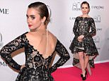 Mandatory Credit: Photo by David Fisher/REX Shutterstock (4898005m)  Lily Collins  Lancome 80th anniversary party, Autumn Winter 2015, Haute Couture, Paris Fashion Week, France - 07 Jul 2015