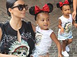 EXCLUSIVE. Coleman-Rayner. Anaheim, CA, USA. \nJuly 08, 2015\nKim Kardashian, daughter North West, along with Kris Jenner and boyfriend Corey Gamble, Kourtney Kardashian and son Mason celebrate Penelope's third birthday at Disneyland.\nCREDIT LINE MUST READ: Coleman-Rayner\nTel US (001) 323 545 7584 - Mobile\nTel US (001) 310 474 4343 - Office\nwww.coleman-rayner.com