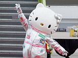 HOUSTON, TX - JUNE 19:  Hello Kitty arrives for guests at the EVA Air Hello Kitty Shining Star Jet Inaugural Event at George Bush Intercontinental Airport on June 19, 2015 in Houston, Texas.  (Photo by Bob Levey/Getty Images for Sanrio)
