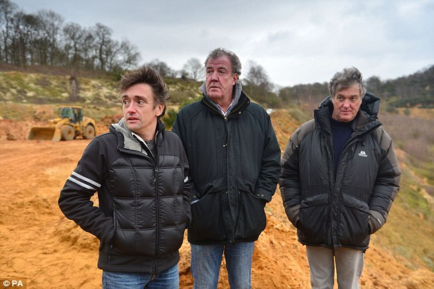 Moving on: Clarkson and his co-presenters Richard Hammond and James May are thought to be in talks to front a new rival motoring show