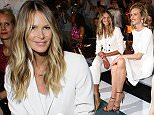 BERLIN, GERMANY - JULY 07:  (L-R) Elle Macpherson and Eva Herzigova attend the Marc Cain show during the Mercedes-Benz Fashion Week Berlin Spring/Summer 2016 at Brandenburg Gate on July 7, 2015 in Berlin, Germany.  (Photo by Andreas Rentz/Getty Images for IMG)