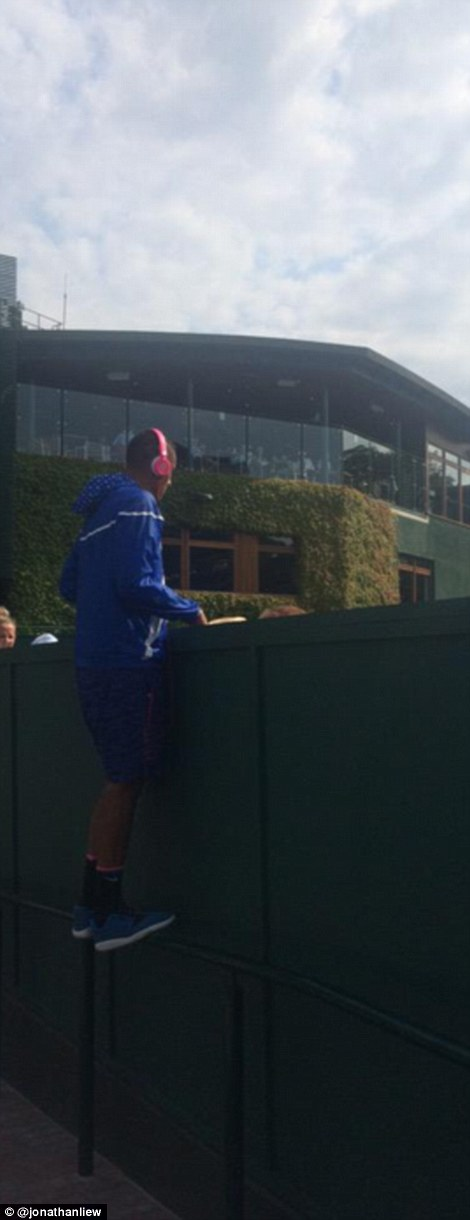 Kyrgios has been a thorn in SW19 officials' sides this week, it appears