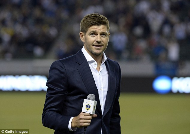 Gerrard was introduced to the Los Angeles Galaxy crowd at half-time during their win over Toronto