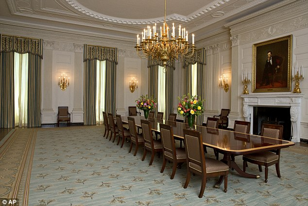 Changes: Michelle Obama unveiled the new White House State Dining Room on Tuesday