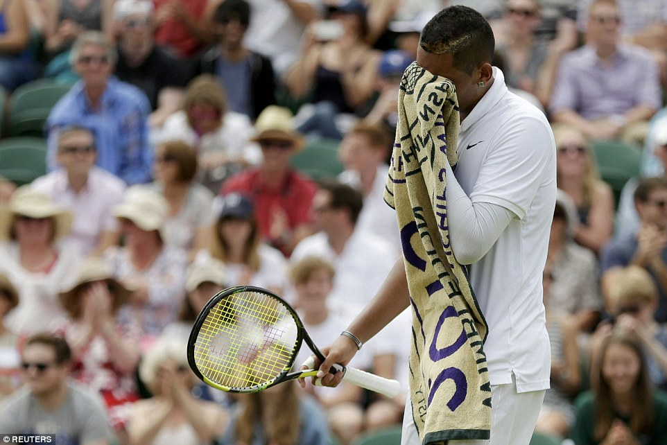 The Australian bad boy seemed to leavethree of Gasquet's serves alone and appeared to be sulking on court