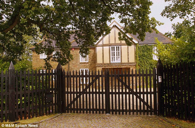Kicked out? It was reported on Tuesday that George had left the Chinnor, Oxon mansion (pictured) to return to his home town of Warrington