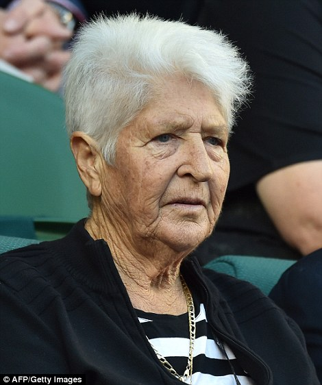 Australian Olympic swimming great Dawn Fraser (pictured) was branded a 'blatant racist' by Kyrgios on Tuesday morning after her comments