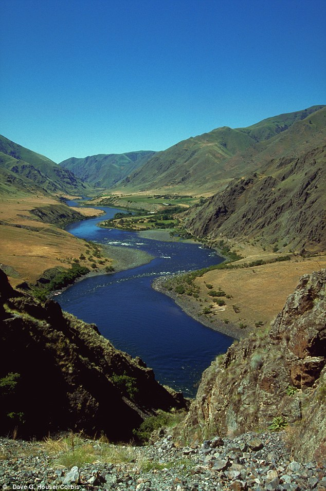 Slither on through: Idaho is home to dramatic waterways like the Snake River - which dissects Hell's Canyon