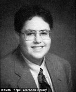 Throwback: Fogle above in his senior year high school portrait. He graduated from North Central High School in Indianapolis, Indiana in 1995
