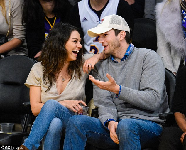 Dynamic duo: The 31-year-old actress and 37-year-old actor - pictured at a Los Angeles Lakers game in December - began dating in 2012 followed by an engagement in February 2014
