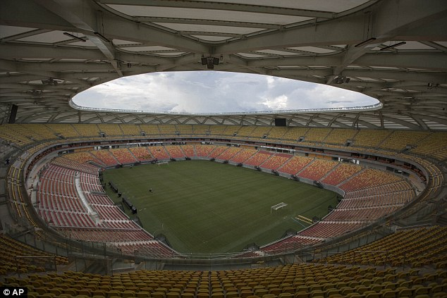 Venue: The Arena da Amazonia will host England's first World Cup match, against Italy on Saturday evening