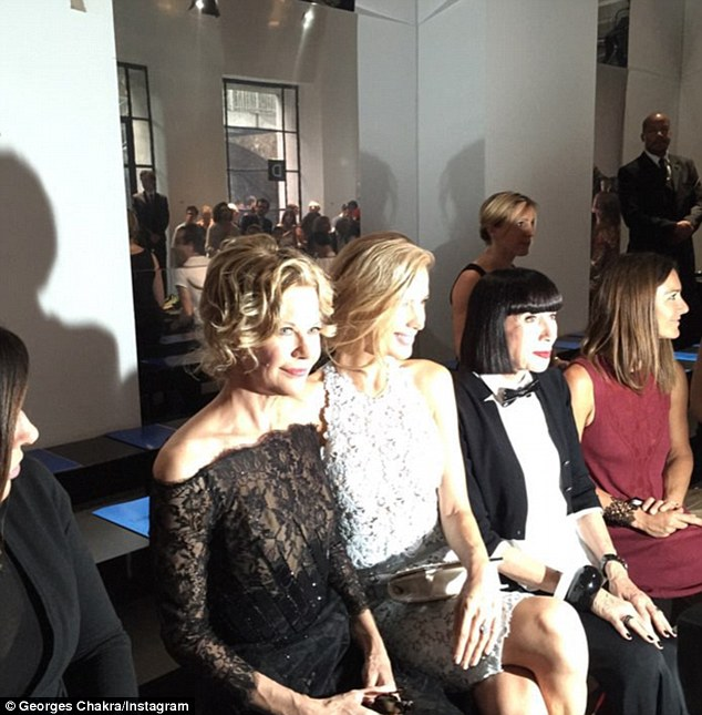 In the spotlight... The You've Got Mail star was one of the biggest names in the FROW at the show