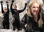 "RUNNING WILD WITH BEAR GRYLLS -- ""Kate Hudson"" Episode 203 -- Pictured: (l-r) Kate Hudson, Bear Grylls -- (Photo by: Mark Challender/NBC/NBCU Photo Bank via Getty Images)"