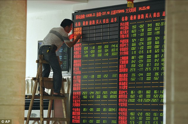 Values on the Chinese stock market have plunged by more than a third since June due to investor panic